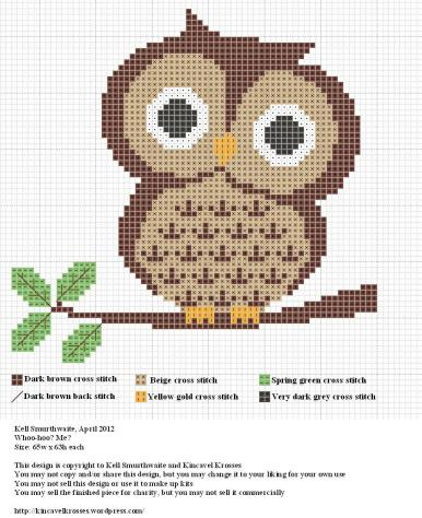 Owl Cross Stitch Free Pattern