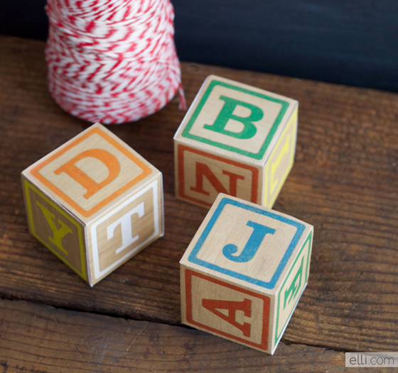 DIY Alphabet Block Boxes Baby Shower Favors