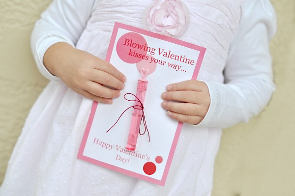 Printable Bubbles Valentine
