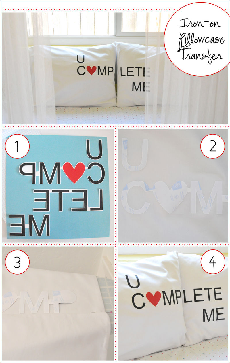 You Complete Me Valentine Pillowcases Tutorial