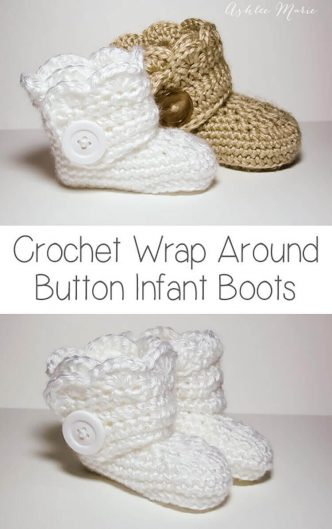 Crochet Infant Boots Pattern