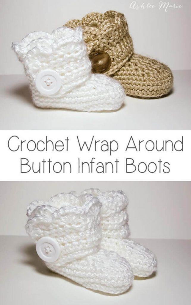 Crochet Infant Boots Pattern