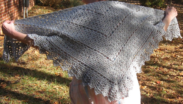 Simple Box Stitch Shawl Crochet Pattern