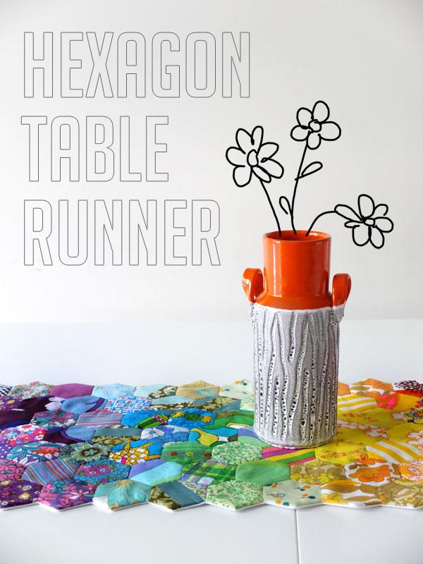 Scrappy Hexagon Table Runner Tutorial