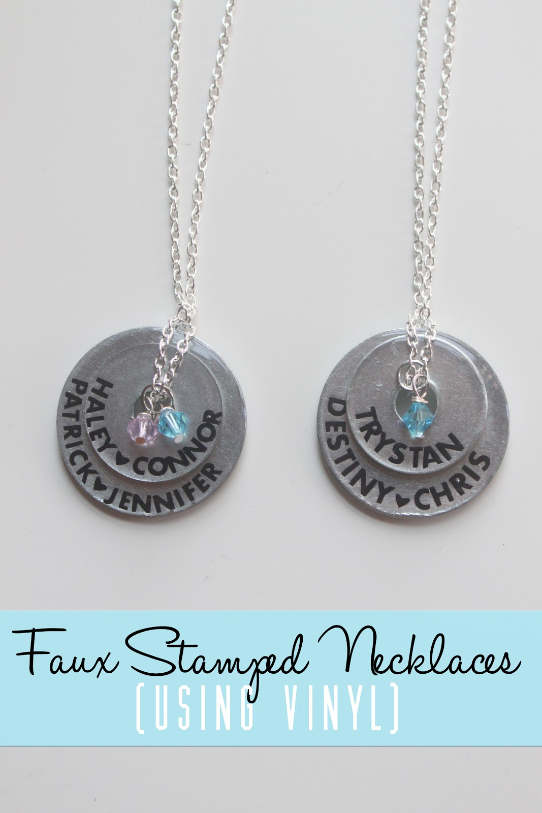 Faux Stamped Necklaces