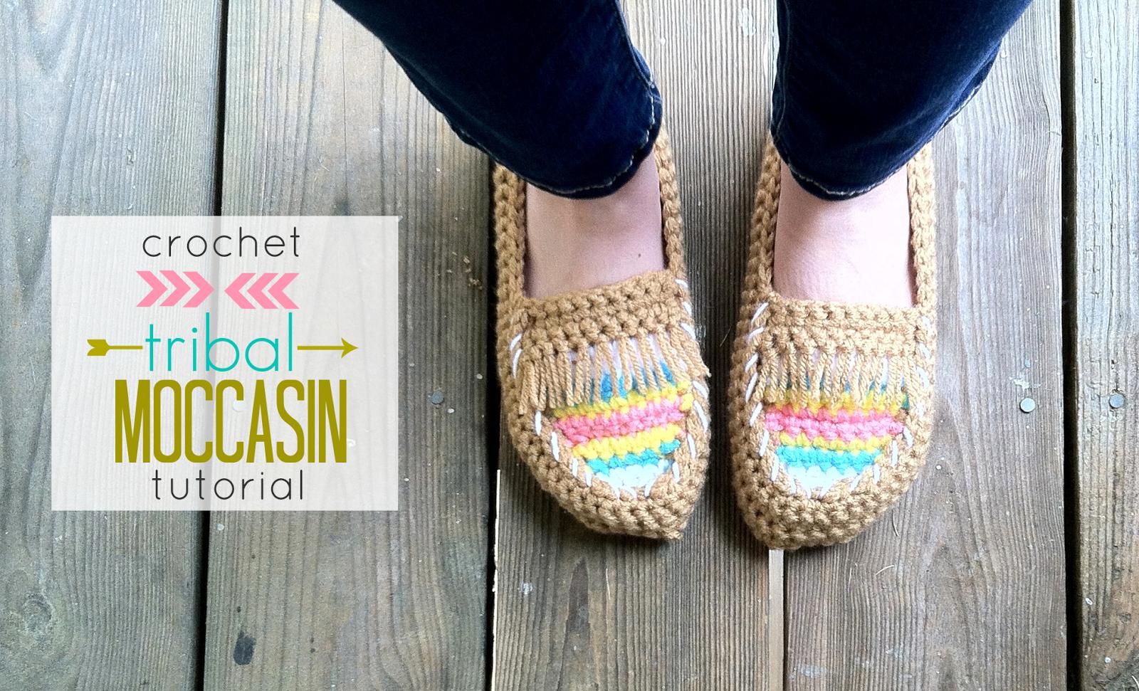 crochet tribal moccasin pattern