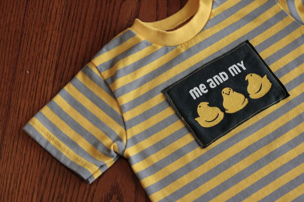 """My Peeps"" Stencilled Shirt"