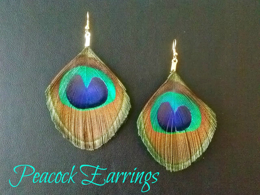 Peacock Earrings Tutorial