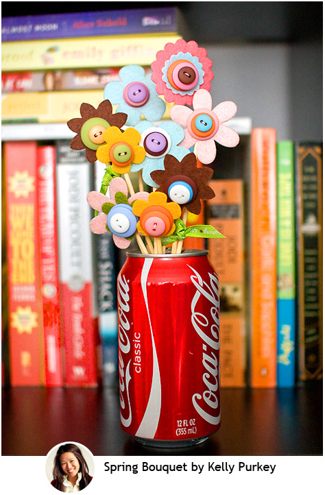 Spring Button Bouquet