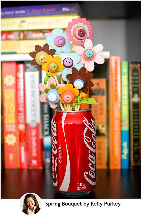 Spring Button Bouquet