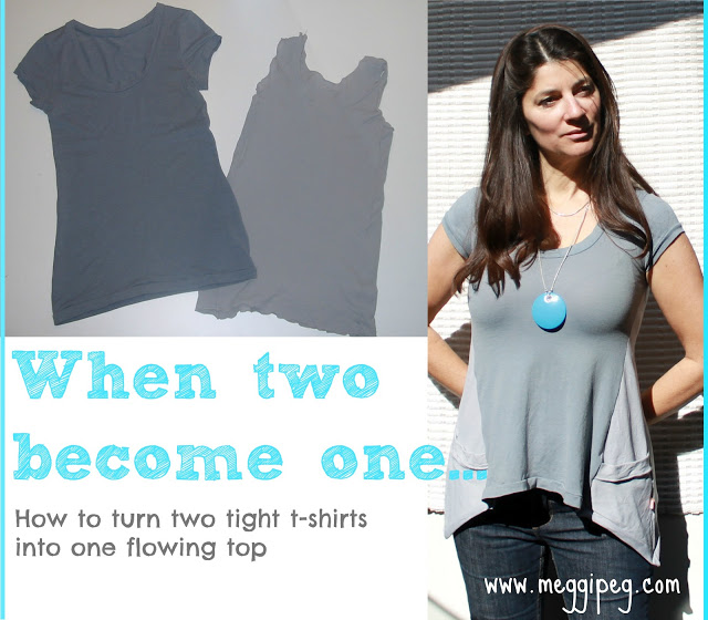 Refashioned Flowing Top Sewing Tutorial