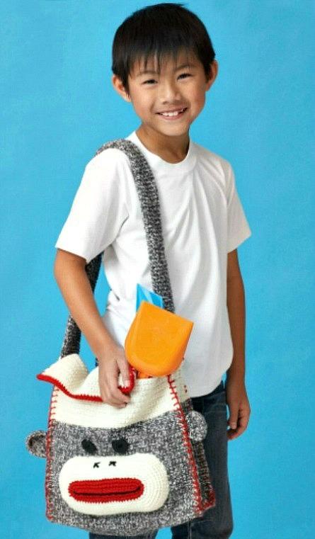 Crochet Sock Monkey Shoulder Bag Crochet Pattern