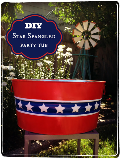 DIY Star Spangled Party Tub