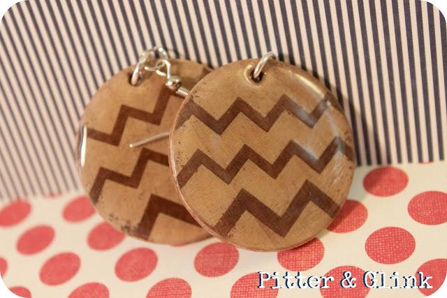 DIY Chevron Wooden Earrings