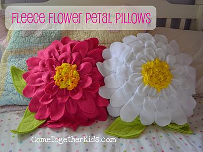 Easy Fleece Flower Petal Pillows