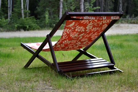 Build a Wood Folding Sling Chair