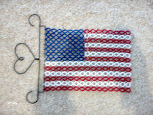 American Flag Tatting Pattern