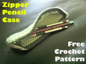 Zipper Pencil case Crochet Pattern