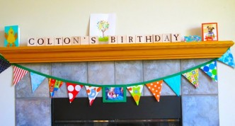 Reusable Birthday Photo Bunting Tutorial