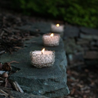 Wire Crochet Tealight Holder Pattern