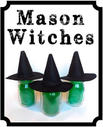 Easy Mason Jar Witches