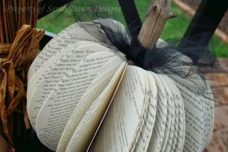 DIY Book Pumpkins