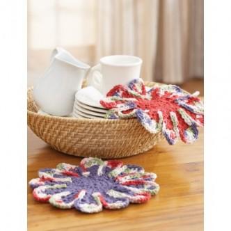 Chrysanthemum Dishcloth Crochet Pattern