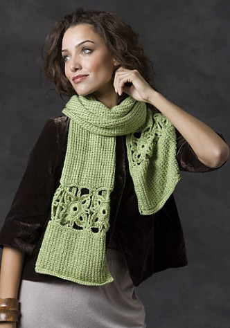 Stone Creek Scarf Free Crochet Knit Combo Pattern