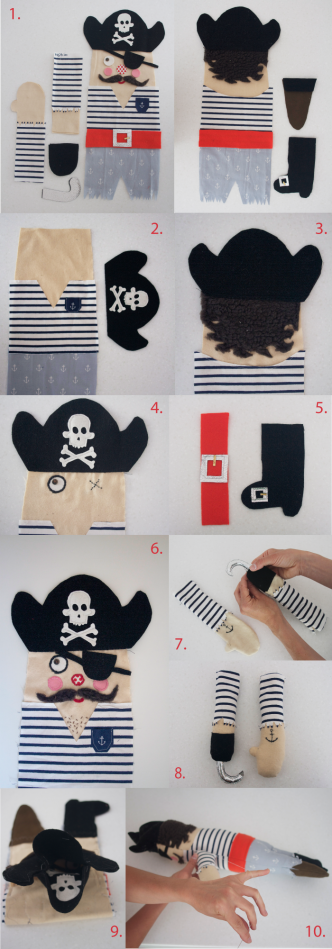 Free Pirate Doll Sewing Pattern