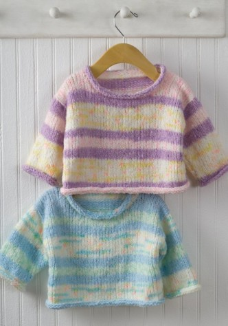 Easy Baby Pullover Sweater Knitting Pattern