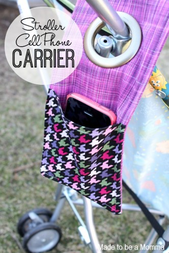 Stroller Cell Phone Carrier Sewing Tute
