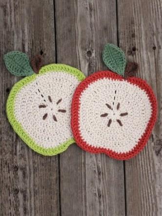 Apple a Day Dishcloth Crochet Pattern