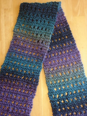 Easy Eyelet Scarf Knitting Pattern