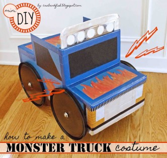 Mini DIY Monster Truck Halloween Costume