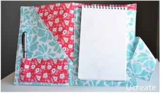 Notebook Folder Sewing Tutorial