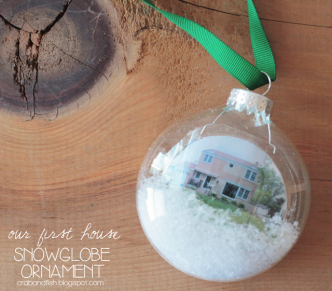 DIY Miniature House Snowglobe Ornaments