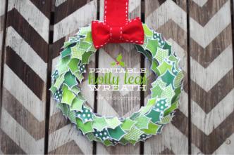 Printable Holly Leaf Wreath