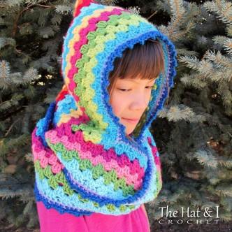 Harlequin Cowl Hoodie Crocheting Pattern