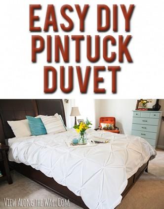 Easy DIY Pintuck Duvet Cover