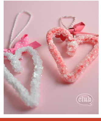DIY Crystal Valentine Hearts