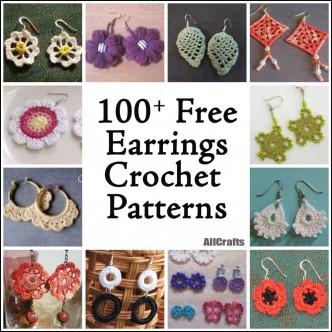 100+ Free Crochet Earrings Patterns