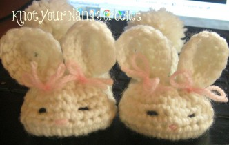 Bunny Baby Slippers Crochet Pattern