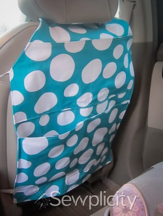 Seat Back Protector Organizer Sewing Tutorial