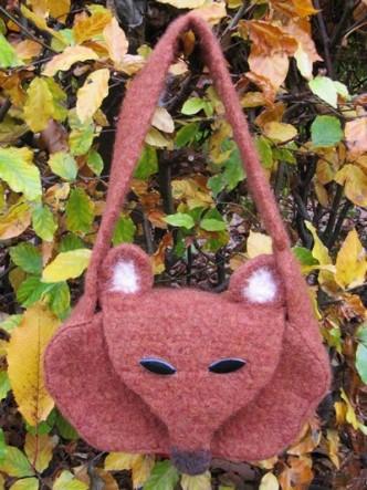 Felted Fox Bag Free Crochet Pattern