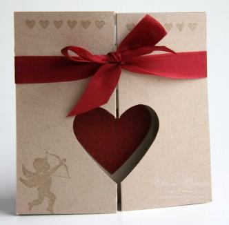 Heart Fold Valentine's Day Card