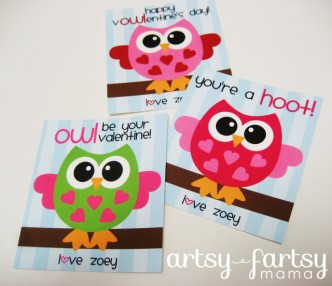Free Printable Owl Valentines
