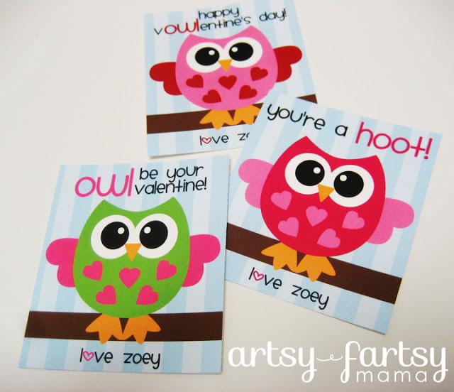 Free Printable Owl Valentines - AllCrafts Free Crafts Update