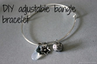 DIY Adjustable Bangle Bracelet