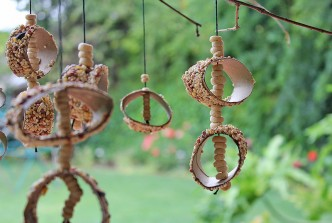 Recycled Bird Feeder Mobile