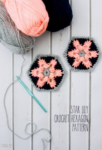 Star Lily Crochet Hexagon Pattern